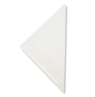 Witte puntzakken 18 cm, 100 stuks
